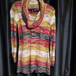 Ultra Flirt small multi colored sweater tunic